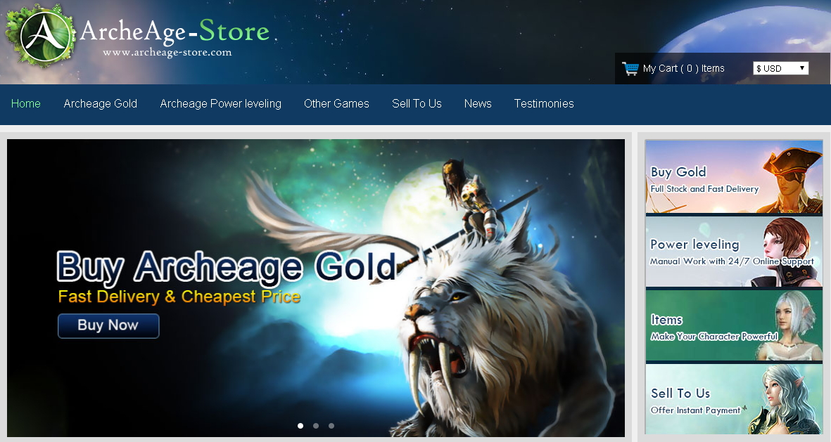 Safe ArcheAge Gold Store 24/7 Online
