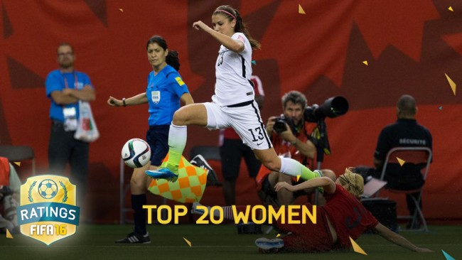 FIFA 16 Top 20 Best Female Footballers