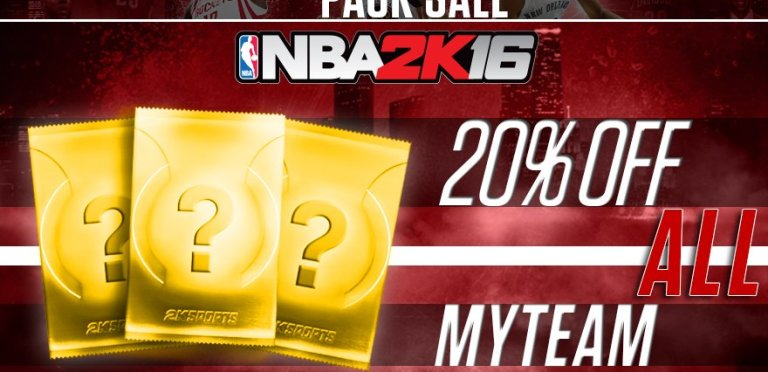 All NBA 2K16 MYTEAM Packs Are 20% Off This Weekend