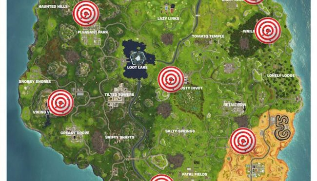 7 Fortnite Shooting Galleries in the Map