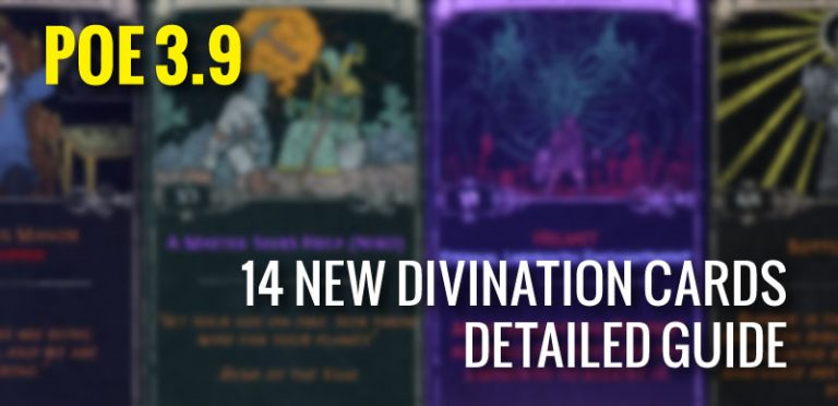14 New divination Cards Detailed Guide in POE 3.9